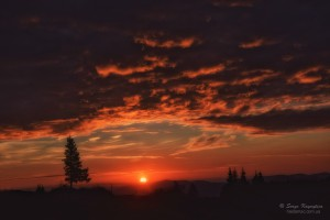 Psychodelic sunrise